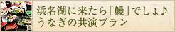 浜名湖に来たら「鰻」でしょ♪うなぎの共演プラン